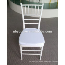 White tiffany chair for wedding