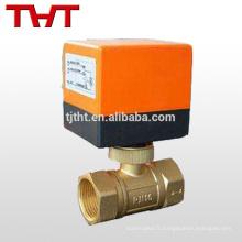dn100 2 voies robinet à tournant sphérique en laiton électrique pour le gaz de l'eau de pétrole