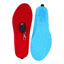 Remote controlled foot warming insoles