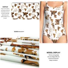 Polyester Spandex Trend neu gedruckten Bademode Stoff