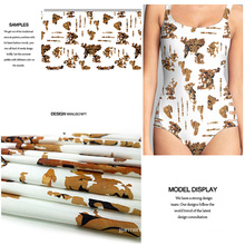 Polyester Spandex New Trend Printed Swimwear Fabric