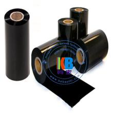 Impressão de etiquetas de transferência de calor material de resina cor preta fita de código de barras