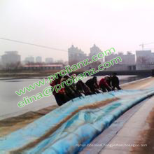 China Round Inflatable Water Rubber Dam to South Africa