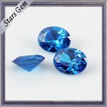 10X12mm Big Size Blue Excellent Diamond Cut Zirconia