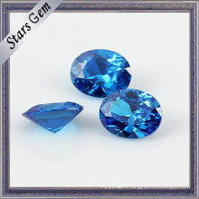 10X12mm Big Size Blue Excellent Diamond Cut Zirconia