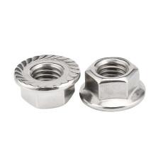Zinc Plated Carbon Steel M5 M6 M8 M10 M12 Serrated Hex Flange Nuts