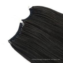 1# Color Human Knot Thread No Tip Hair Extensions Keratin Remy Virgin Hair