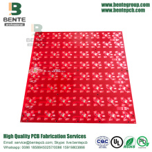 4 Layers PCB Red Ink Multilayer PCB FR4 Tg150 PCB ENIG