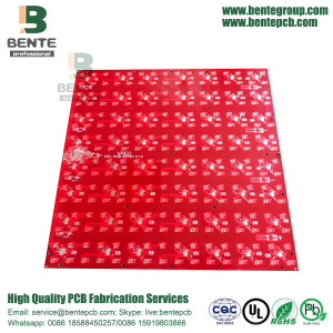 4 Camadas PCB Red Ink Multilayer PCB FR4 Tg150 PCB ENIG