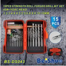 15PCS DIN338 HSS сверло сверла установленные с высоким качеством