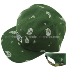 Flat Bill correa de cuero Antiguo Buckle Camp Baseball Cap (TMB00538-1)
