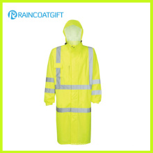 Hooded Relfective Nylon Oxford Police Raincoat (RPY-056)