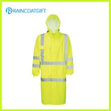 Capa de chuva de nylon com capuz relfective oxford polícia (ry-056)