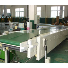 telescopic conveyor for uploading and downloading