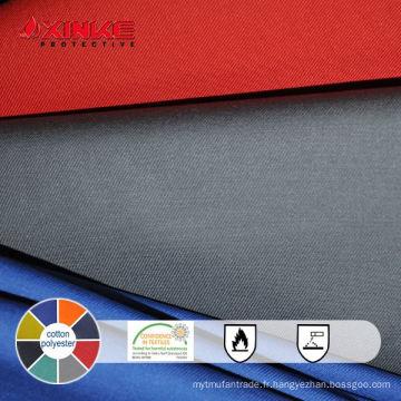 Tissu ignifuge 65% coton et 35% nylon