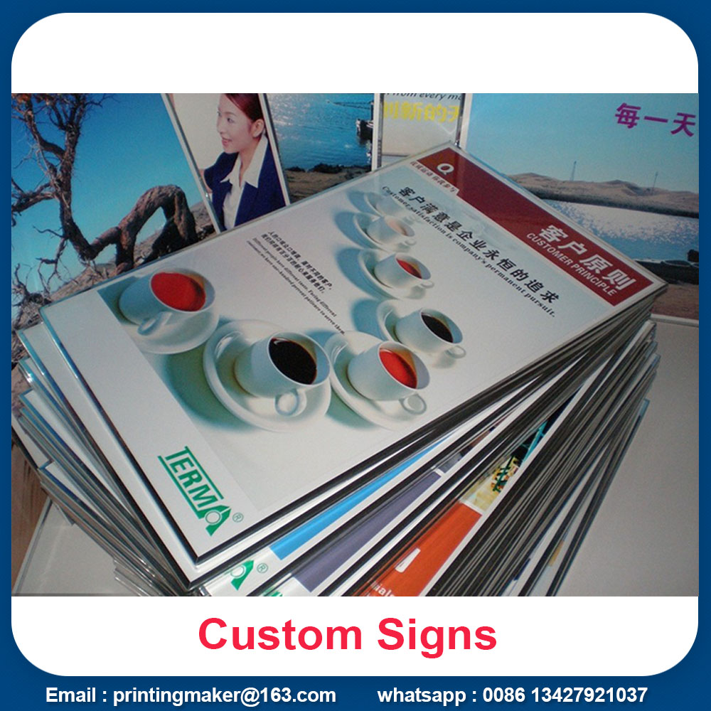Wall Mounted PVC Boards with Plastic Frame Edge