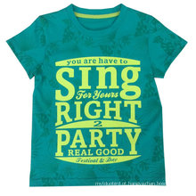 T-shirt das crianças para o verão na venda quente, t-shirt do menino, desgaste popular das crianças