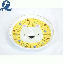 Cuencos decorativos de cerámica del perro de la forma linda de la cara del león de encargo respetuosos del medio ambiente