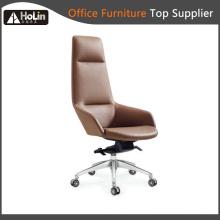 Cadeira de escritório de lazer de couro PU moderno braço
