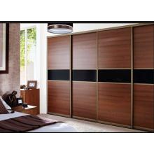 Puerta deslizante del diseño casero del armario, puerta de madera sólida para el dormitorio