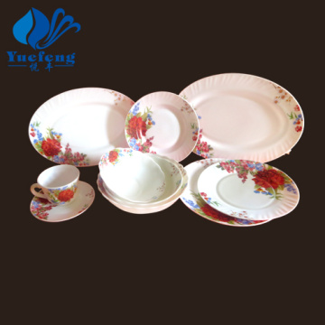 Heat Resistant Opal Glassware-46PCS Dinner Set