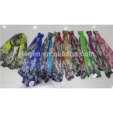 In Stock Polyester Neon Color Print Scarf