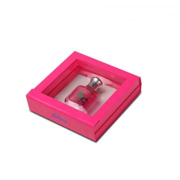 Rectangle Shape Greyboard Perfume Box di jendela Terlihat