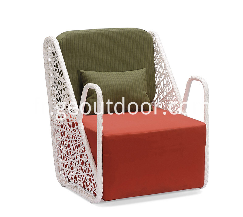 Sunbrella Fabric Bistro Chair and Table