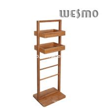 Карбонизированная бамбуковая стойка для ванной комнаты (WRB0509A)