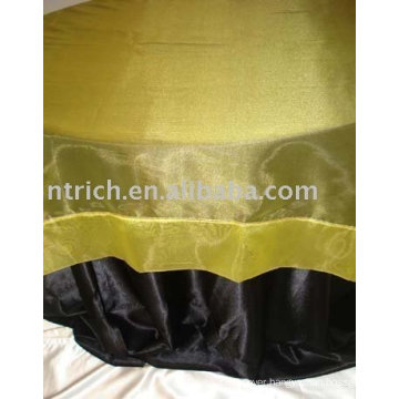 Satin tablecloth,hotel/banquet table cover,organza table overlay