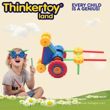 Plastik Kinder pädagogische DIY Bausteine Spielzeug