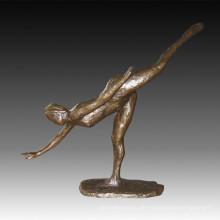 Tänzerfigur Statue Moderne Dame Bronze Skulptur TPE-1021