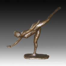 Bailarina Figura Estatua Moderna Escultura De Bronce Señora TPE-1021