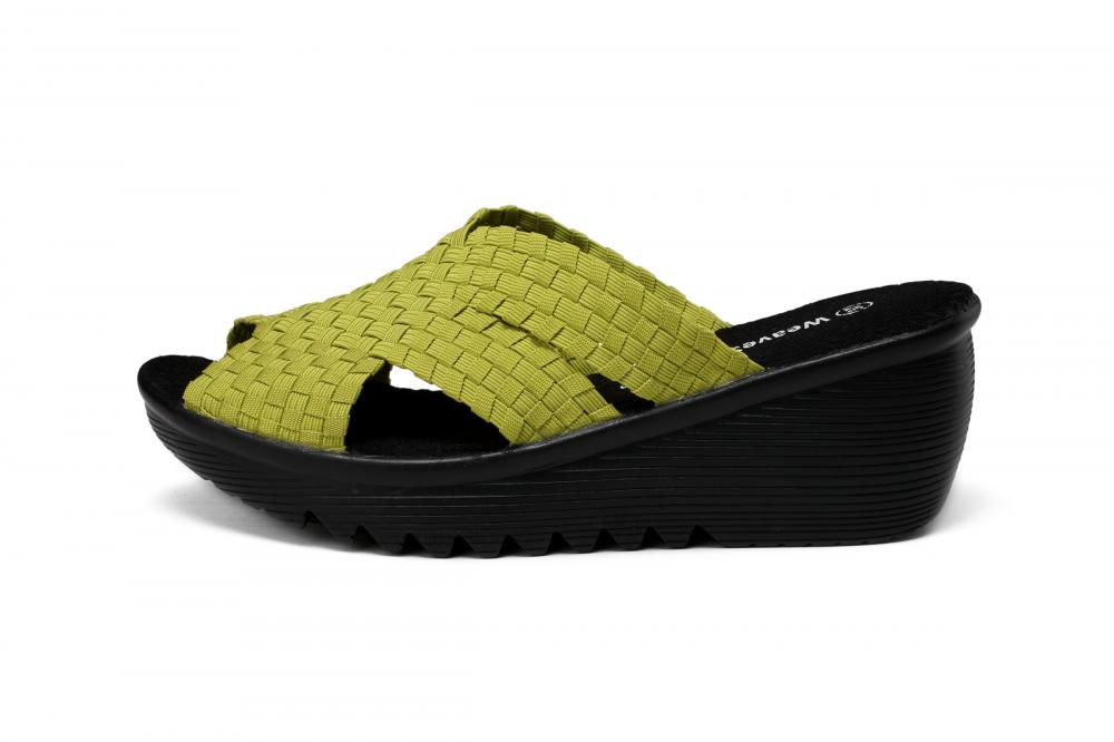 Green Woven Slippers
