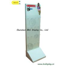 1шт/ctn Дисплей картона, рифленая Индикация, Бумажная стойка дисплея, Дисплей пола картона, Дисплей POS крюк, pegboard дисплея (B и C-B028)