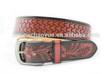 Genuine leather man new model belt embossed leather belt