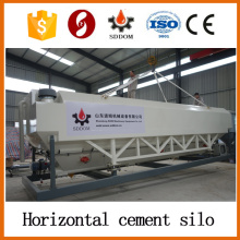 High performance 20-30 tons horizontal cement silo,mobile cement silo
