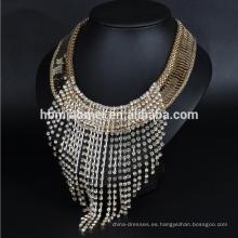 Collar de diamantes borla Collar cruzado de aleación femenina hermosa para las mujeres
