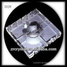 Transparente K9 Crystal Aschenbecher für Office-Set