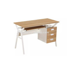 high quality steel frame with melamine top computer office desk photo 02