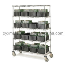 Movable Chormed Plated Display Shelf