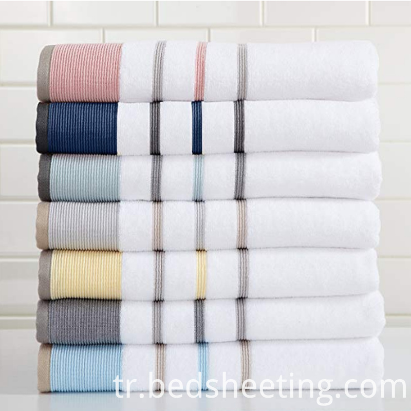 Colorful Striped Cotton Hand Towel