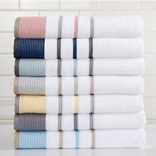 Toalhas de mão listradas coloridas de algodão