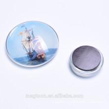 Оптовые парусные хрустальные стеклянные магниты для сувениров