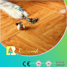 12.3mm Mirror Walnut Water Resistant V-Grooved Laminated Floor