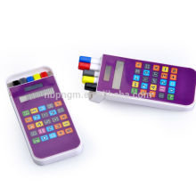 Hot selling 8 digit touch screen Pen container calculator with pen