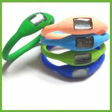 Fashion Waterproof Silicone Bracelet Ion Sport Wrist Watch