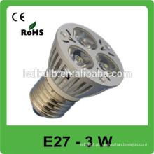 E27 led lâmpada alumínio 3w levou lâmpada levou spot luz