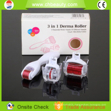 2015 Handsome magic beauty equipment 3 in 1 derma roller