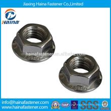 Fabricante chinês em estoque Aço inoxidável A2 hex flange porca DIN6923
